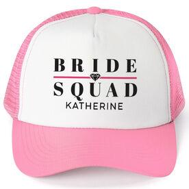 Personalized Trucker Hat - Bride Squad (Diamond)