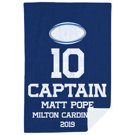 Rugby Premium Blanket - Personalized Captain