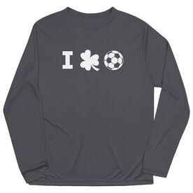 Soccer Long Sleeve Performance Tee - I Shamrock Soccer