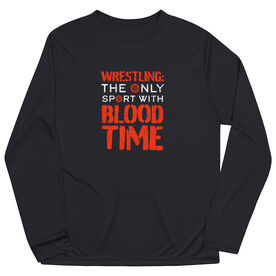 Wrestling Long Sleeve Performance Tee - Blood Time