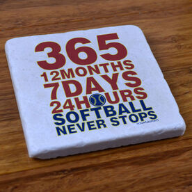 Softball 365 Softball - Stone Coaster