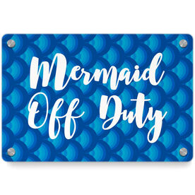 Swimming Metal Wall Art Panel - Mermaid Off Duty