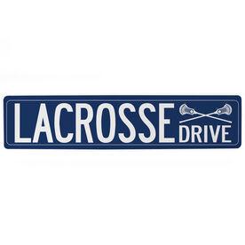 "Guys Lacrosse Aluminum Room Sign - Lacrosse Drive (4""x18"")"