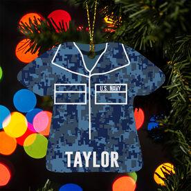 Personalized Ornament - Navy Camo