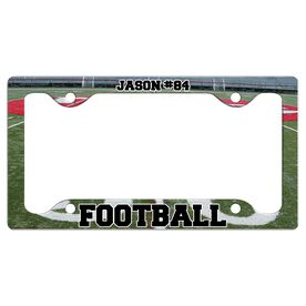 Custom Football Player License Plate Holders