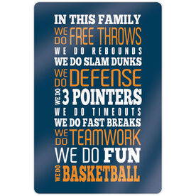 "Basketball 18"" X 12"" Aluminum Room Sign - We Do Basketball"
