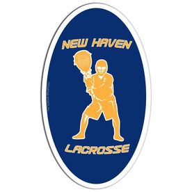 Lacrosse Oval Car Magnet Personalized Goalie