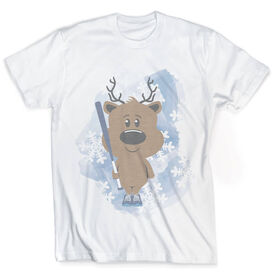 Vintage Softball T-Shirt - Reindeer Batter