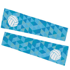 Volleyball Printed Arm Sleeves - Triangles with Volleyball