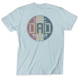 Guys Lacrosse Vintage T-Shirt - Greatest Dad Stripes