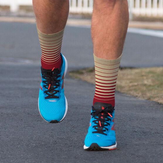 Printed Mid-Calf Socks - Stripes
