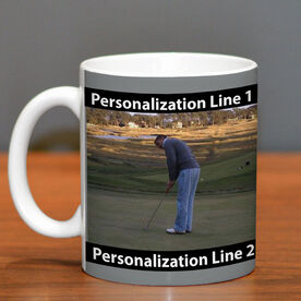 Golf Coffee Mug Custom Photo with Color