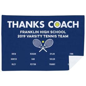 Tennis Premium Blanket - Thanks Coach (Horizontal)