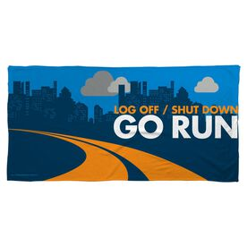 Running Beach Towel Go Run