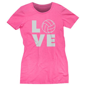 Volleyball Women's Everyday Tee - Volleyball Love