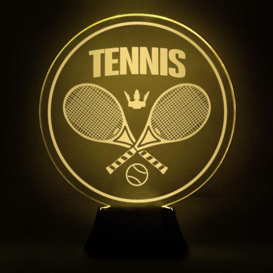 Tennis Acrylic LED Lamp Crossed Racquets