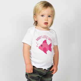 Swimming Baby T-Shirt - Daddy's Litttle Guppy