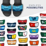 Girls Lacrosse Repwell® Sandal Straps - Team Name Colorblock