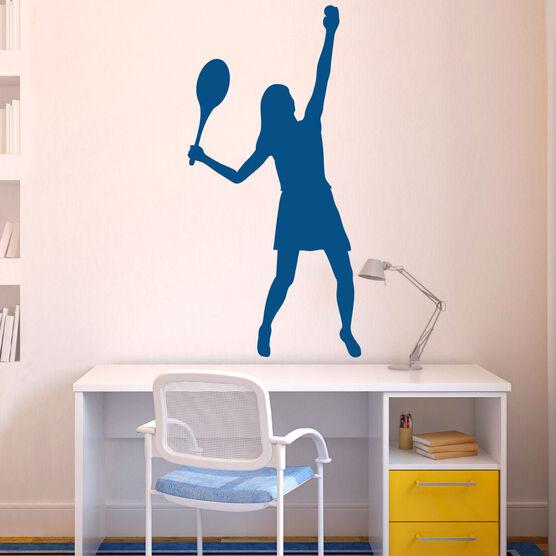 ... Girl Tennis Player Removable ChalkTalkGraphix Wall Decal ...