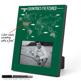 Fly Fishing Photo Frame - Countries I've Fished Outline