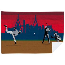 Baseball Premium Blanket - Go for the Home Run Boston