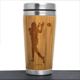 Football Bamboo Travel Tumbler Wide Receiver Silhouette