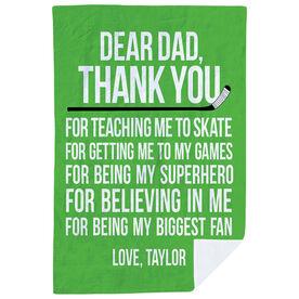 Hockey Premium Blanket - Dear Dad