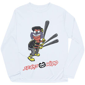 Seams Wild Baseball Long Sleeve Tech Tee - Cobb Webb