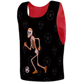 Soccer Pinnie - Halloween Skeleton