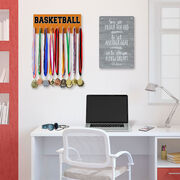 Basketball Hooked on Medals Hanger - Word