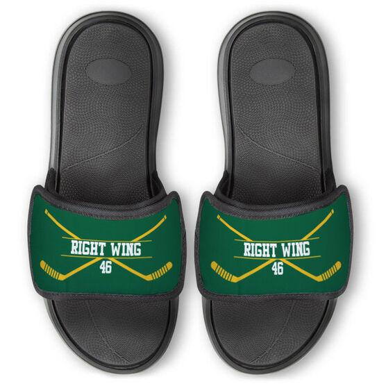 Hockey Repwell® Slide Sandals - Personalized Crossed Sticks