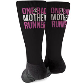 Running Printed Mid-Calf Socks - One Bad Mother Runner