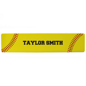 "Softball Aluminum Room Sign - Your Name Softball (4""x18"")"