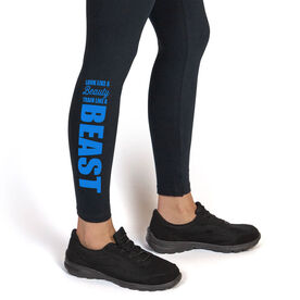 Wrestling Leggings Look Like a Beauty Train Like a Beast