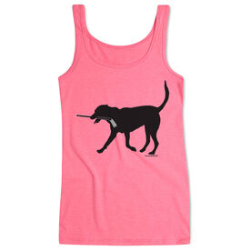 Hockey Women's Athletic Tank Top Howe The Hockey Dog
