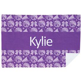 Cheerleading Premium Blanket - Personalized Cheer Stripe