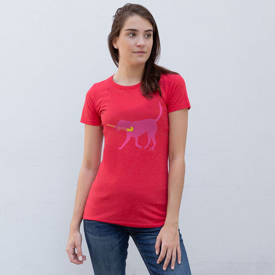 Field Hockey Women's Everyday Tee - Fetch the Field Hockey Dog