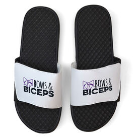 Cheerleading White Slide Sandals - Bows and Biceps