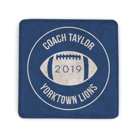 Football Stone Coaster - Personalized Thanks Coach Football