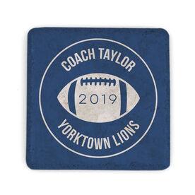 Football Stone Coaster - Personalized Thanks Coach Football