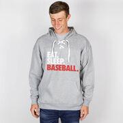 Baseball Sport Lace Sweatshirt Eat. Sleep. Baseball.