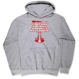 Softball Hooded Sweatshirt - Softball's My Favorite
