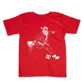 Soccer Toddler Short Sleeve Tee - Santa Player