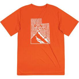 Men's Running Short Sleeve Tech Tee - Utah State Runner