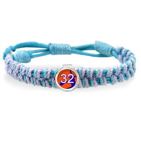 Softball Pitcher Your Number Adjustable Woven SportSNAPS Bracelet