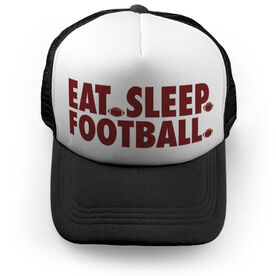 Football Trucker Hat - Eat Sleep Football