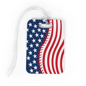 Baseball Bag/Luggage Tag - American Flag Ball