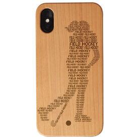 Field Hockey Engraved Wood IPhone® Case - Field Hockey Words