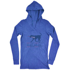 Girls Lacrosse Lightweight Performance Hoodie LuLaLax Logo