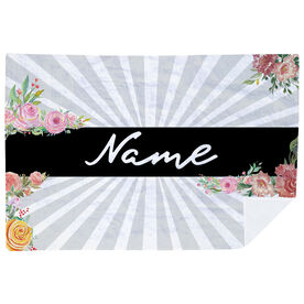Personalized Premium Blanket - Floral Rays